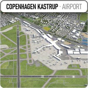 3D copenhagen kastrup airport -