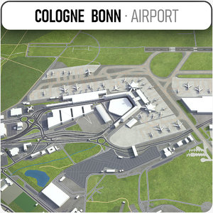 3D cologne bonn airport - model
