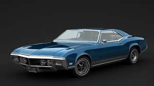 3D buick riviera 1968