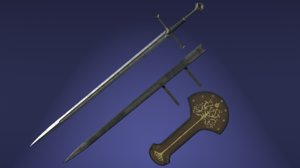 sword scabbard band stand model