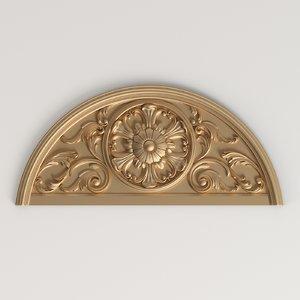 carved decor cnc 3D model