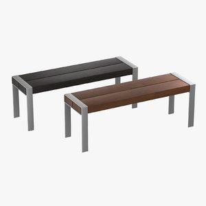 modern wooden bench 3D model