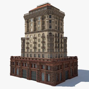 3D stalinist architecture model