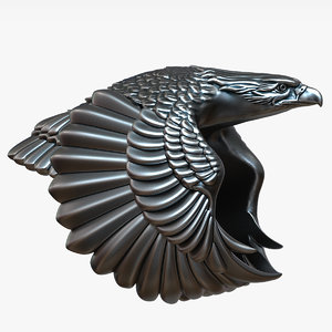 3D model jewelry eagle ring