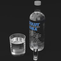 Absolute vodka and glasses set