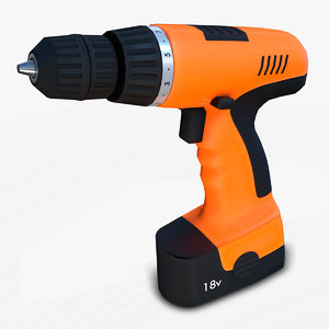 cordless drill powertool 3D