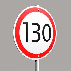 3d street sign speed 03