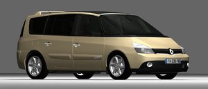 french car renault espace 3D model
