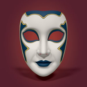 3D mardi gras mask