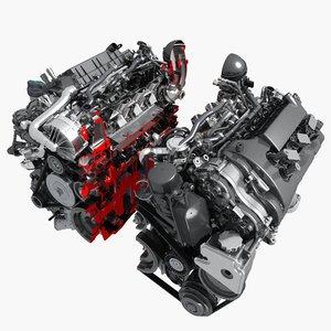 engine v6 cutaway model