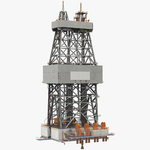 3D drilling rig tower