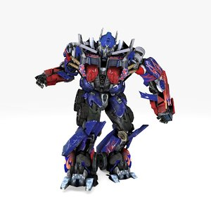 3D optimus prime rigged animate model