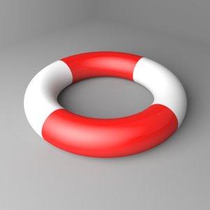 lifesaver swim ring 3D model