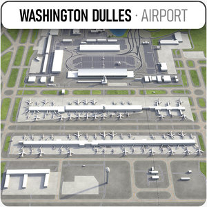 3D dulles international airport -