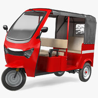 Electric Passenger Tricycle Rickshaw Rigged