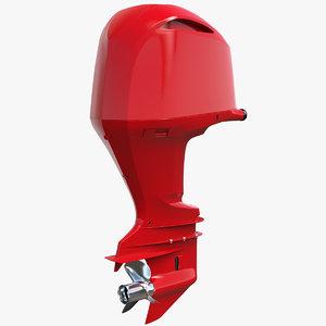 3D model outboard motor