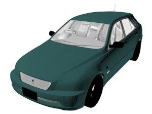 3D car vehicle automobile model