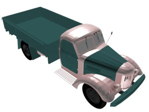 3D truck vehicle