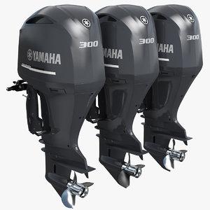 3D triple yamaha 350 v8