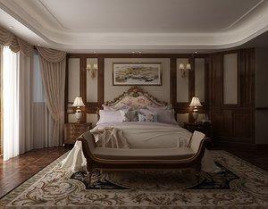 bedroom bed room model