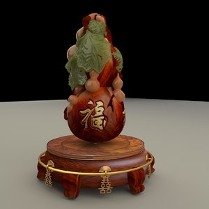 chinese gourd display stand model