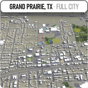grand prairie surrounding - 3D