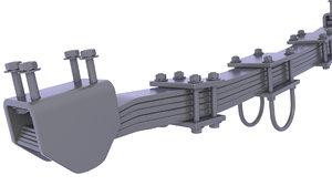 suspension leaf spring model