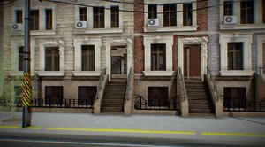 new york apartment block model
