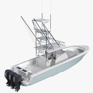 sport fishing boat generic 3D model