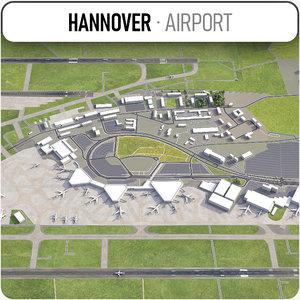 3D hannover airport - haj