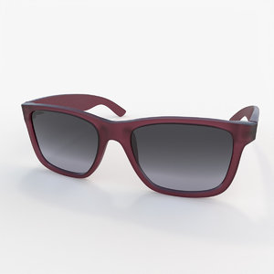 3D classic plastic sunglasses model
