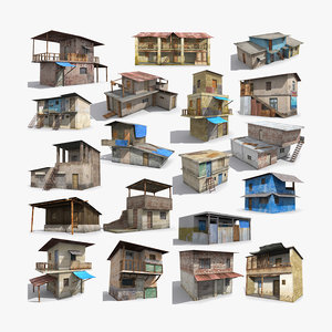 3D ready slum hut shack