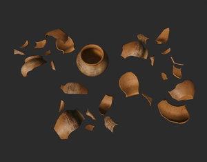 pottery shards set model
