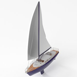 3D regatta sailboat