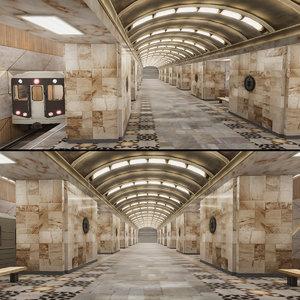 3D subway station