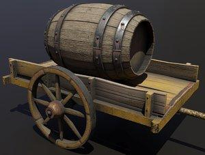 3D cart barrel