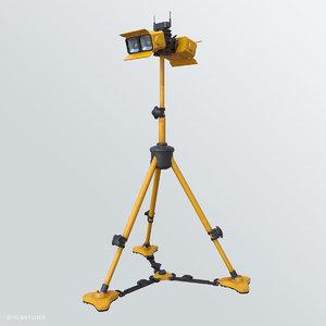 industrial mobile light 3D model