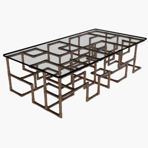 glass table 3D