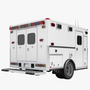 3D ambulance cabin car model