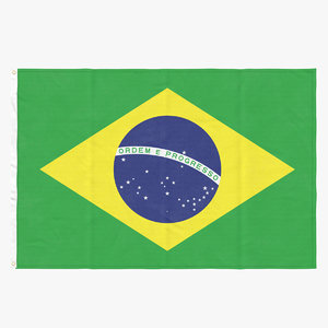 3D flag laying pose brazil