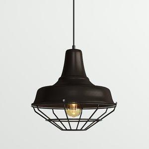 hanging lamp loft house 3D model