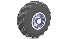 tire post apocalyptic 3D model