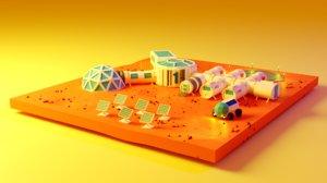 3D model base mars