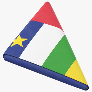 3D flag folded triangle central