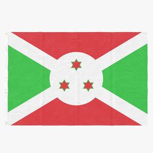 flag laying pose burundi model