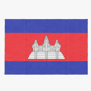 3D flag laying pose cambodia