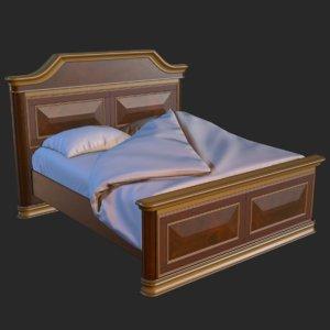 3D vintage furniture bed pbr model