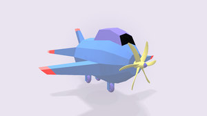 3D stylized aircraft air