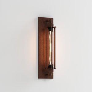 3D wall lamp loft house
