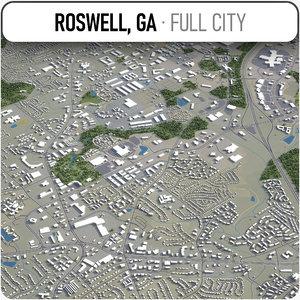 3D roswell georgia surrounding - model